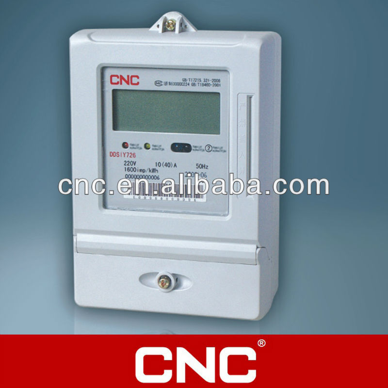 DDSIY726 Single-phase Electronic Carrier Prepaid Meter /Electric Meter /Energy meter