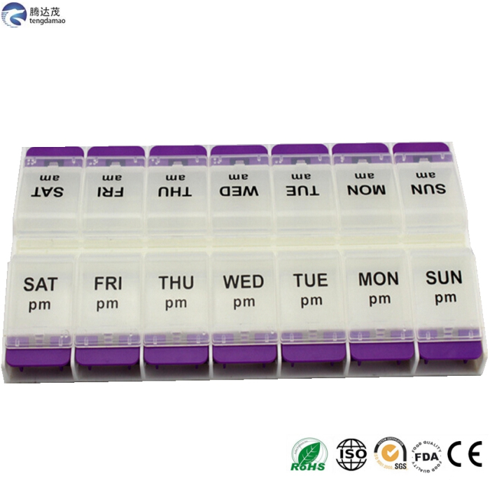 New Promotion Food Grade plastic housing protable pill box OEM