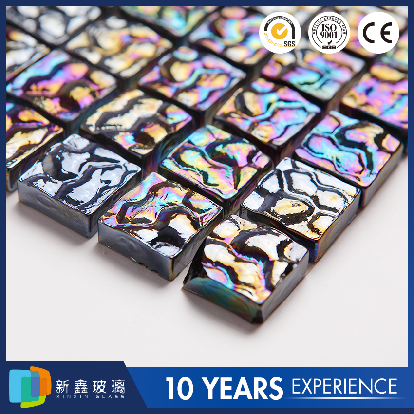 Chinese manufacturer high quality new style mosaic glass floor tile