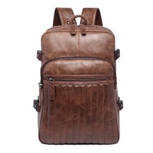 High quality factory travel wholesale custom college PU women leather fashion backpack