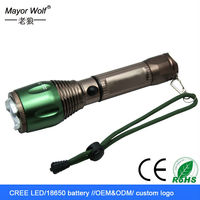 Manufacturer 2016 High Quality Rechargeable Led Focusing Flashlight With Anodized Aluminum Construction