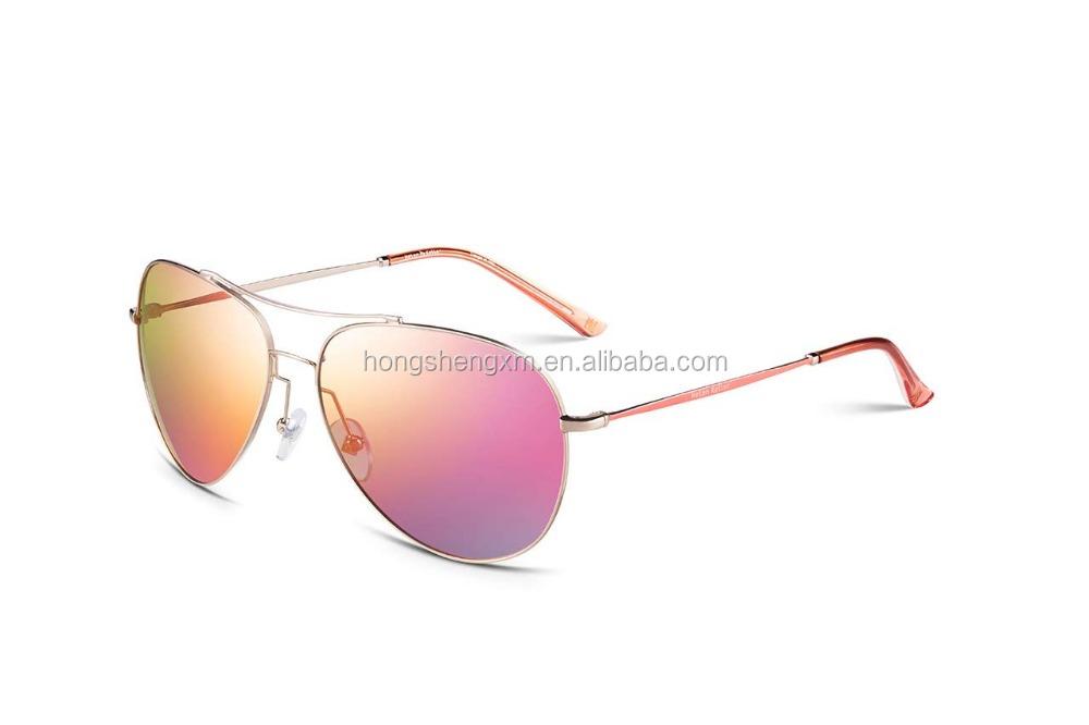 UV400 Italian Brand Name Fashion outdoor metal polarized sunglasses