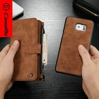 Stand Design Leather+PC Phone Case for Samsung galaxy s7edge wallet case,stand function case for samsung galaxy s7 edge