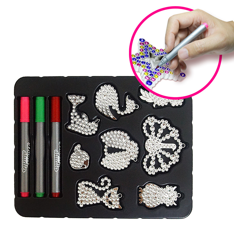 2018 funny beautiful DIY diamond painting kids painting set educational <strong>toys</strong> for girl
