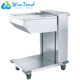 Durable commercial stainless steel fast food tray lift serving trolley cart
