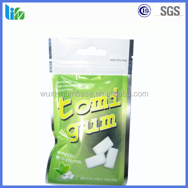 Hot selling carton trick plastic bag packing chewing gum pellets