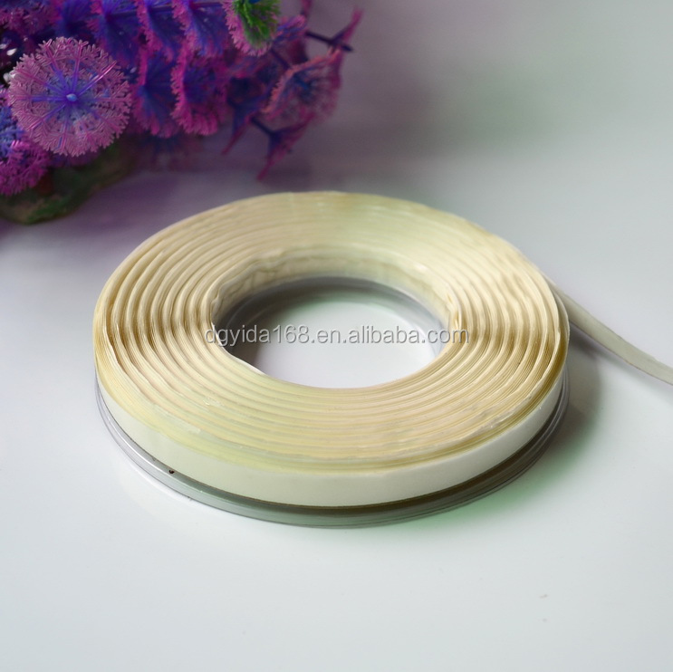 stronge adhesive double sided steel wire trim PET tape