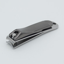 Gun Black Finished Handle Wide Mouth Custom Podiatry Nail Clipper Cutter