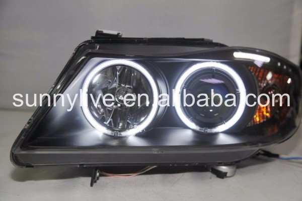 For BMW E90 head Lamp CCFL Angel Eyes 2006-2008 year LF