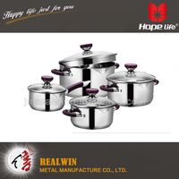 Elegance and high quality stock pot 8pcs stainless steel cookware