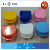 Denture storage box with triangle type plastic denture box for different sizes