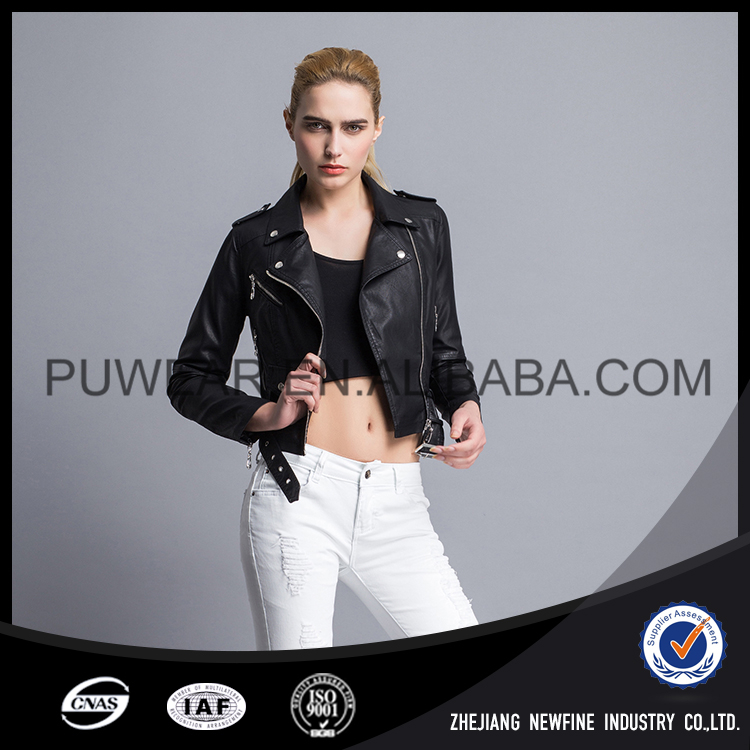 Quick Dry Crazy Selling Wholesale Comfortable Cheap Faux Leather Jacket
