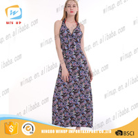 Hot selling korean designs new lady dress fashion women maxi dress