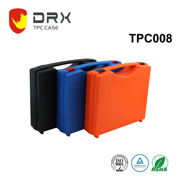 Hard plastic injection molded carrying case