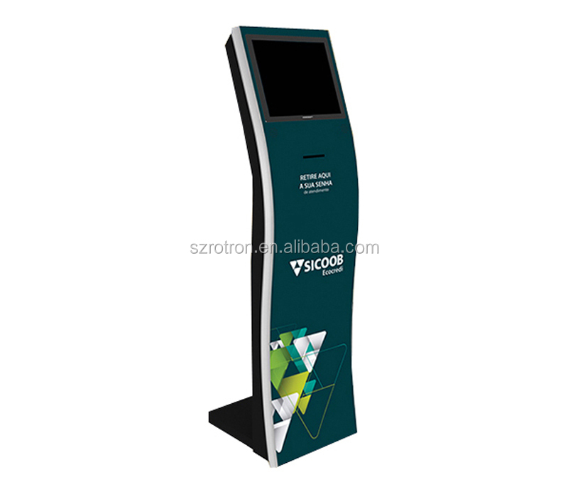 Self service Windows 10 Custom made free standing check in kiosk with Receipt printer