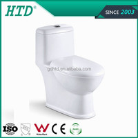 HTD-0811 New design bathroom siphonic one piece ceramic wc toilet