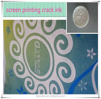 white paste screen printing cracking water based ink for textile
