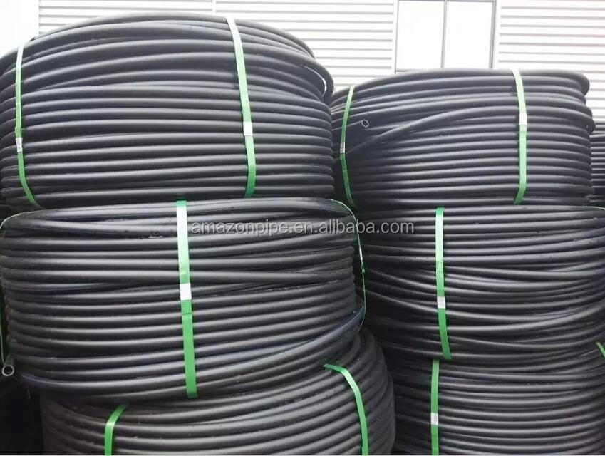 PE100 agricultural irrigation poly pipe coiled
