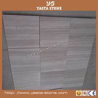 High intensity good color white wood marble for school floor tile