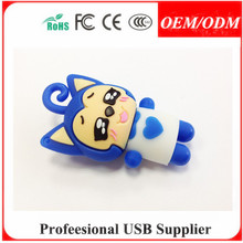 Students Lovely Girl USB Stick Silicon customized PVC usb flash drive