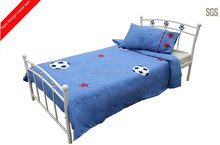Callum Boys Bed Frame - Metal, Blue/white Finish, Low Foot End - Single