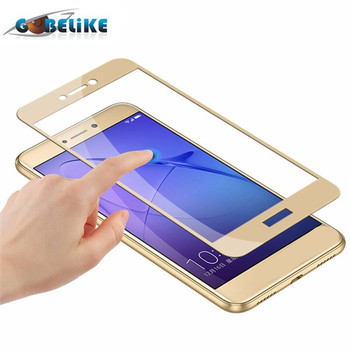 Premium silk printing tempered glass screen protector for Huawei Honor 8