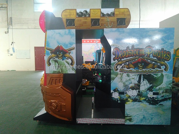Pirate adventure 55 inch LCD 2 players coin operated gun shooting game machine