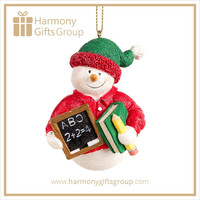 Polyresin Decorative Snowman Teachers Day Gifts