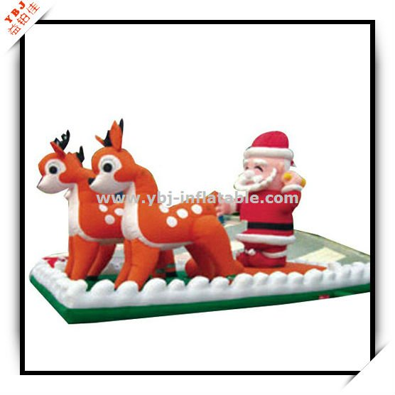 Christmas father chase deer car