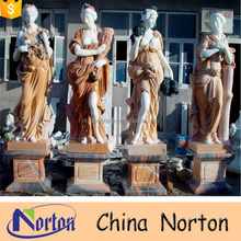 Natural life size four seasons marble statues NTMS0822A