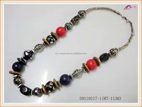 Europe And America Style Wooden Bead Necklace Suitable For Ladies