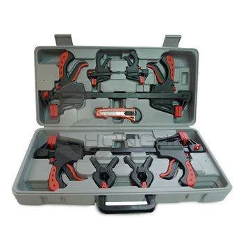 10pc Wood Working Tool Clamp Set In A Blow Mold Case