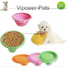Foldable Silicone Pet Bowl Portable Dog Food Bowl Travel Cat Feeding Bowls Collapsible Water Feeder Dish
