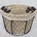 Wire baskets set with fabric lining LYT13025