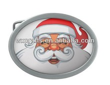 oval shape santa christmas belt buckle