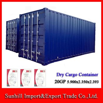 Chongqing 20ft Used ISO Dry Cargo Steel Shipping Container for Sale