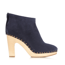 2017 Winter Wood Heel Navy Blue Lady Spanish Shoes