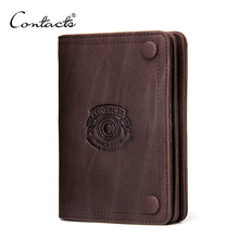 2018 Factory New Custom Crazy Horse Leather Bifold Mens Slim <strong>Wallet</strong>