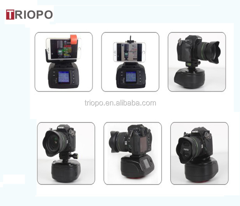 TRIOPO AD-10 Motorized Pan, Panorama head,Auto head,360 degree head and Tilt Head For HDslr and Video Cameras