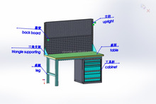 Tool Cabinet Heavy Duty Work Bench with Metal Hardware Locker from WenZhou China Supplier
