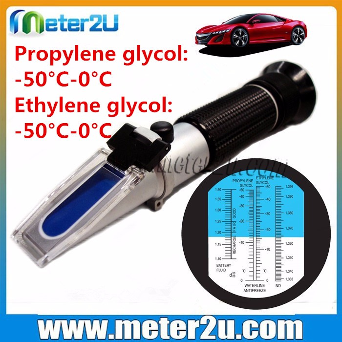 handheld optical refractometer battery antifreeze tester