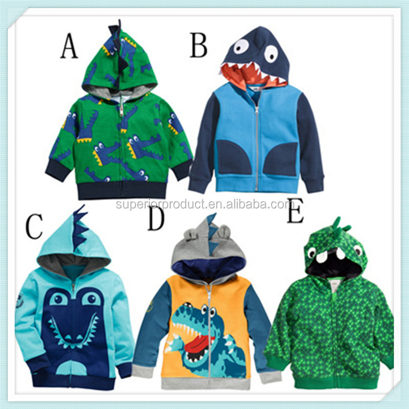 Baby Boys Crocodile Kids Cartoon Coats Girls Printed Zipper Hooded Coat jackets Cartoon Christmas Cosplay Costume