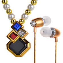Hot sale Female Necklace Earphone Bluetooth BL100 Clothes ornament Stereo Handfree Bluetooth Headset Headphones V4.1 Microphone