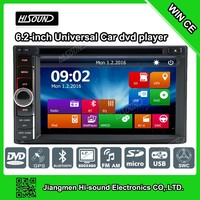 2 DIN Newest 6.2'' touch screen car stereo dvd auto with gps