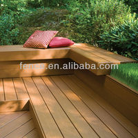Outdoor pvc wood plastic composite decking for sale