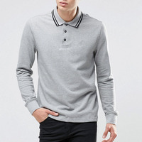 China Suppliers Cheap Polo Shirt Printing Blank Cotton Polo Shirt Dress Long Sleeve Shirt For Men