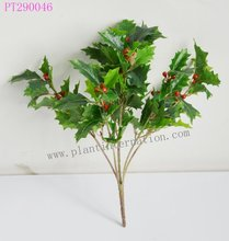 Close Nature artificial Plant Green / Variegated holly bush home decration garden wall