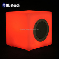 Small waterproof bluetooth music cube speaker shower led magic with fm radio