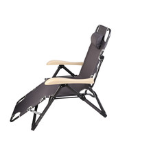 Outdoor Lounge Chairs Beach Chairs Wholesale Folding Portable Beach Chaise Loungehair With Pillow Sun Lounger Zero Gravity Chair