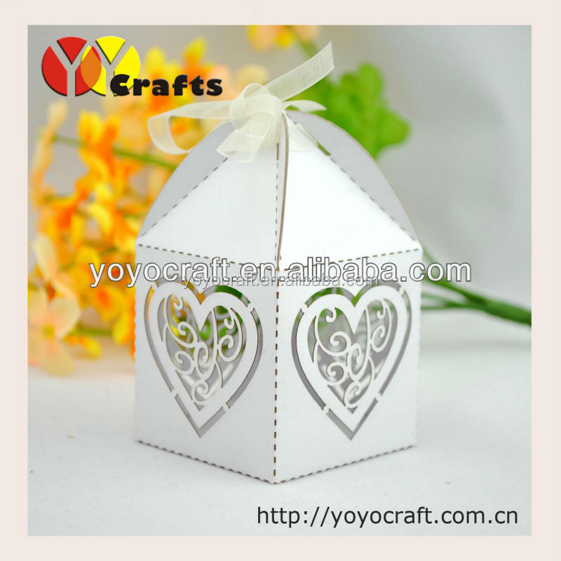 New products party favors vorious of colors paper card cut wedding favors music box